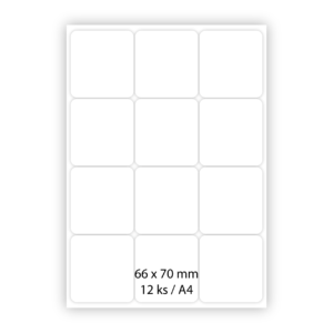 Samolepiace papierové etikety – 66 x 70 mm